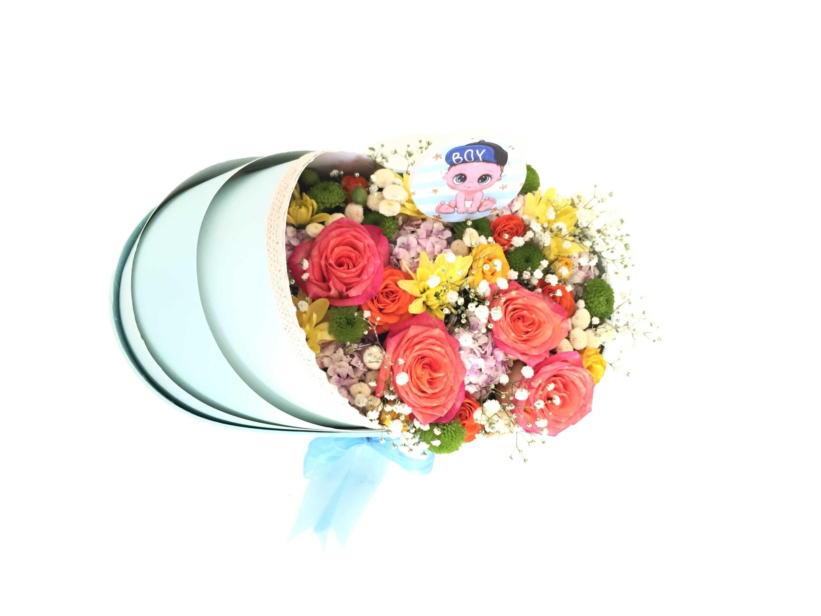 بازار آنلاین گل و گیاه گل ایرانی سفارش گهواره گل ارزان گهواره گل نوزاد