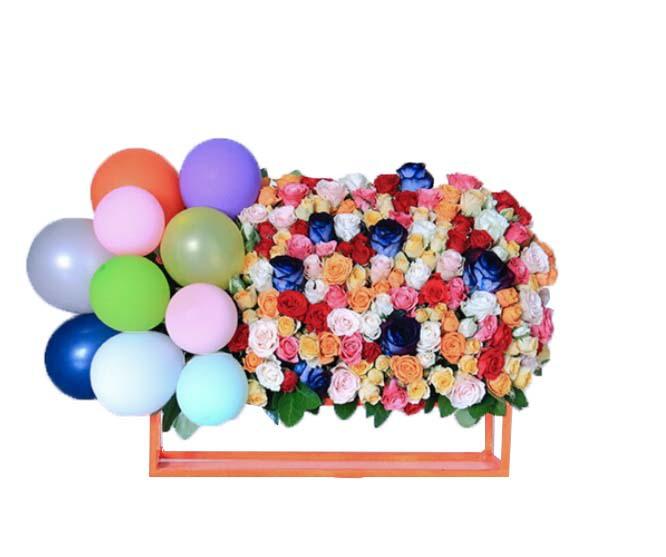 خرید و قیمت باکس گل راز سفارش باکس گل راز قیمت باکس گل و بادکنک خرید باکس گل و بادکنک باکس گل و بادکنک ارزان