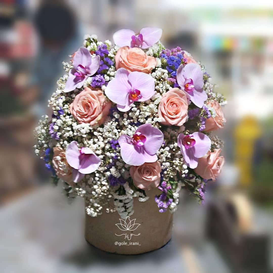 خرید و قیمت باکس گل عندلیب سفارش باکس گل عندلیب ارسال رایگان باکس گل سفارش آنلاین باکس گل تولد باکس گل ارزان