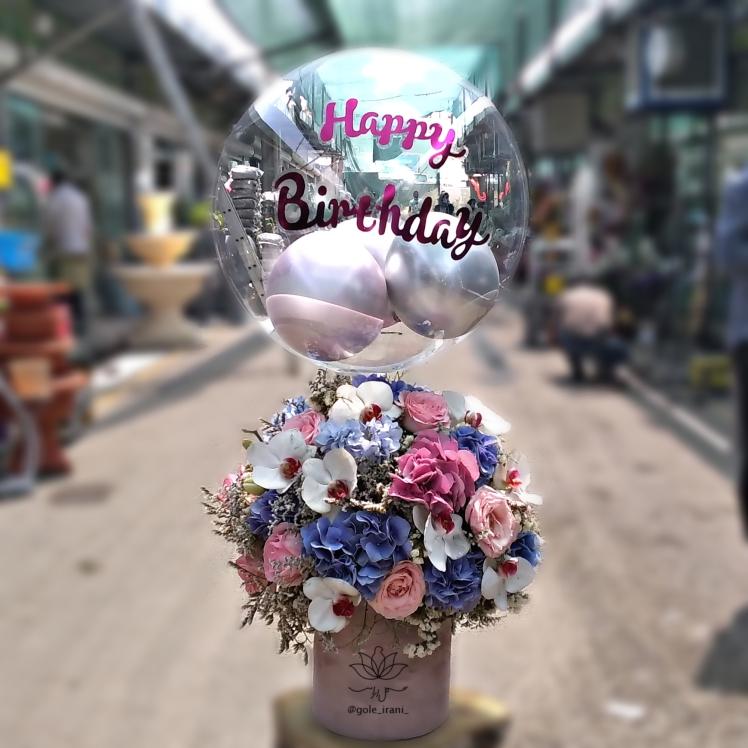 خرید و قیمت باکس گل لعل قیمت باکس گل و بادکنک سفارش باکس گل و بادکنک ارزان باکس گل و بادکنک برای تولد