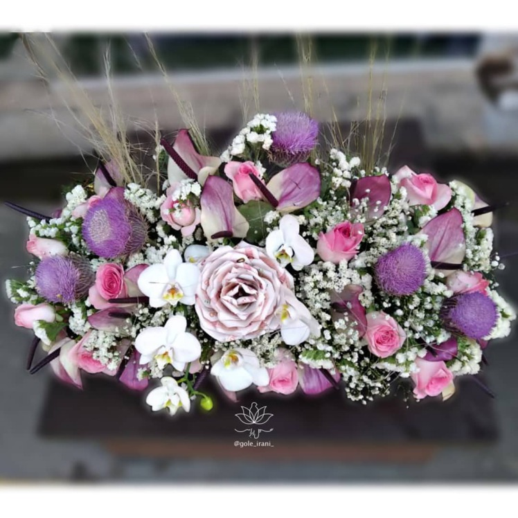 خرید و قیمت باکس گل شوق نگاه باکس گل تولد تزیین پول و گل باکس گل و اسکناس گل ایرانی