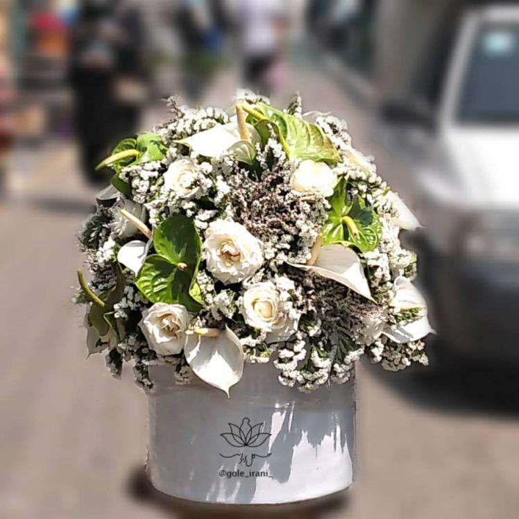 خرید و قیمت باکس گل شهرآشوب باکس گل سفید قیمت باکس گل رز سفید سفارش باکس گل ارزان گل ایرانی خرید باکس گل تولد