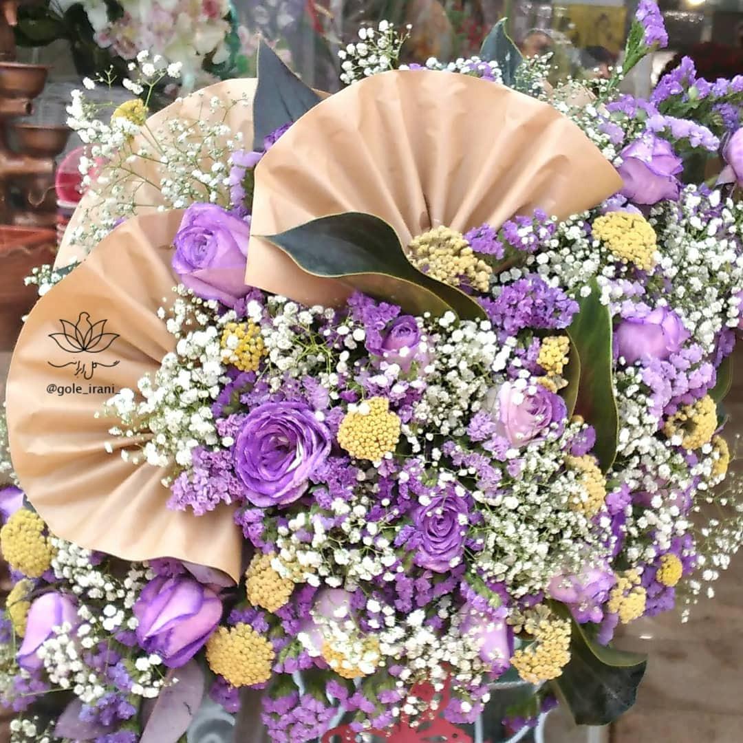 بازار آنلاین گل و گیاه باکس گل تولد سورپرایز عاشقانه سالگرد ازدواج خرید آنلاین باکس گل باکس گل بنفش دخترانه