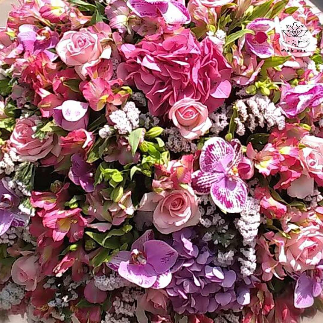 باکس گل صورتی سفارش باکس گل شیک ارسال رایگان گل خرید باکس گل با ارسال فوری باکس گل تولد