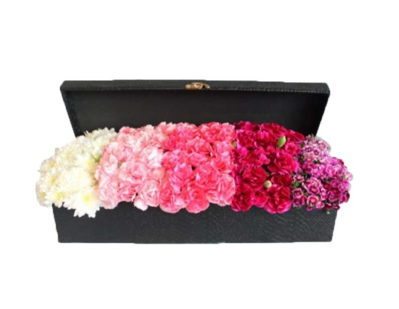 خرید و قیمت باکس گل قدح نور باکس گل ارزان گل ایرانی نماد گل میخک باکس گل رنگی
